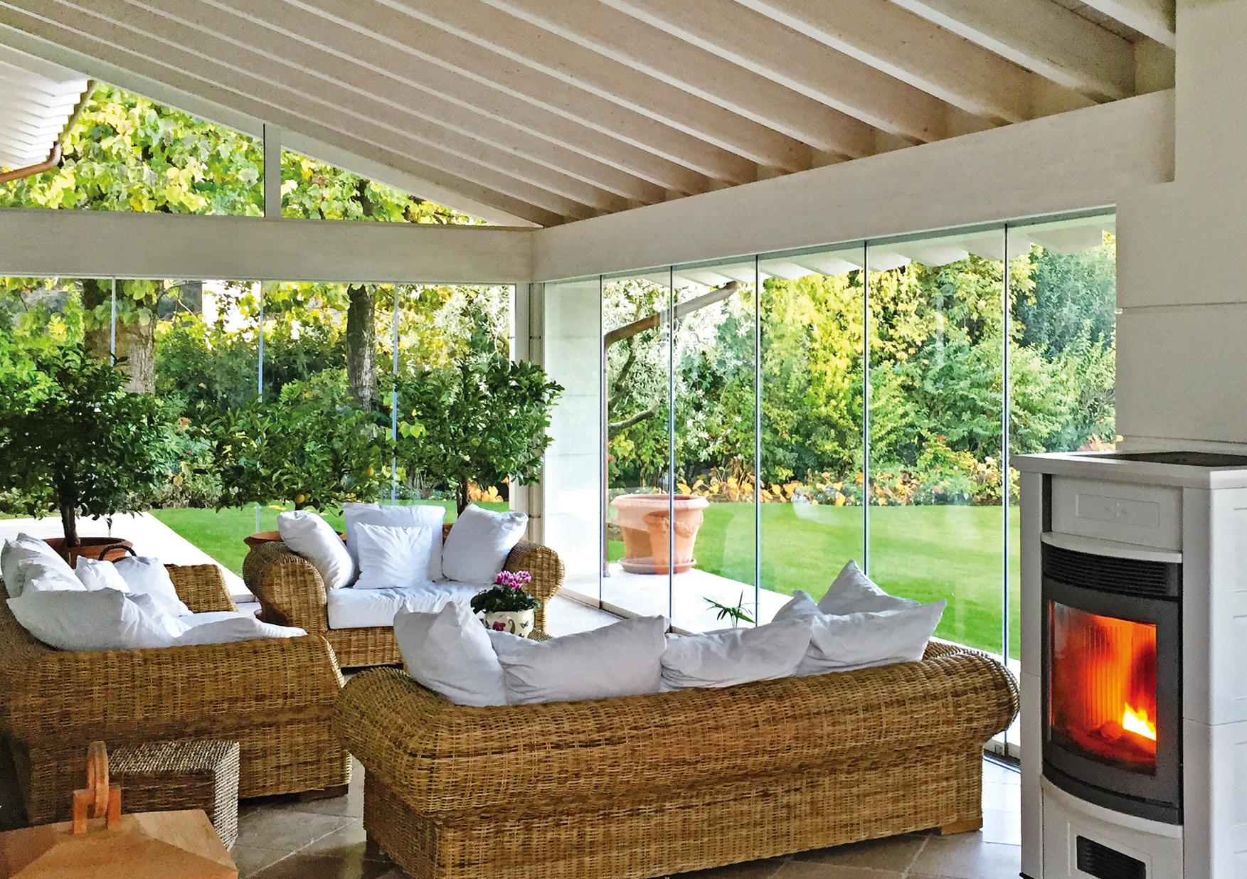 indoor sistema vetro per veranda esterna